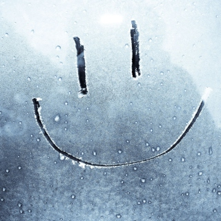 Smiley Face On Frozen Window - Obrázkek zdarma pro iPad