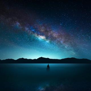 Night Sky with Stars - Obrázkek zdarma pro iPad mini 2