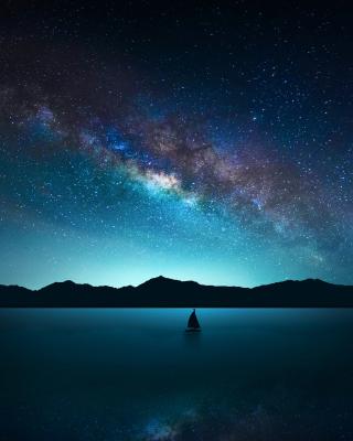 Night Sky with Stars - Obrázkek zdarma pro Nokia C2-03