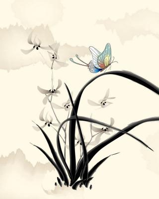 Butterfly Picture - Obrázkek zdarma pro Nokia Asha 306