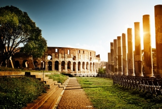 Rome - Amphitheater Colosseum Wallpaper for Android, iPhone and iPad