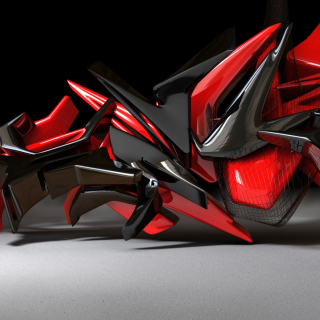 Black And Red 3d Design - Obrázkek zdarma pro iPad Air