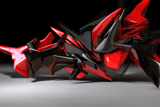 Black And Red 3d Design - Fondos de pantalla gratis para LG E400 Optimus L3