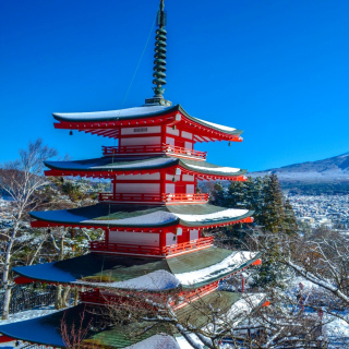 Fuji Mountain - Obrázkek zdarma pro 320x320