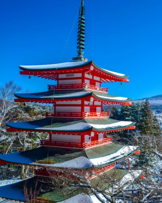 Fuji Mountain - Obrázkek zdarma pro iPhone 5S
