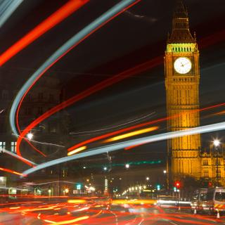 Night Big Ben - Obrázkek zdarma pro iPad