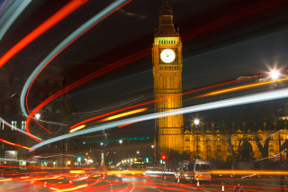 Night Big Ben Picture for Android, iPhone and iPad