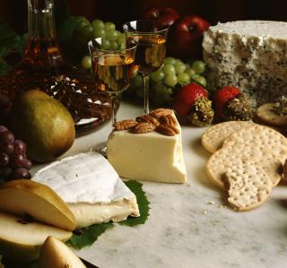 Wine And Cheeses - Obrázkek zdarma pro 208x208