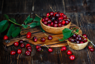 Free Red Sweet Cherries Picture for Android, iPhone and iPad