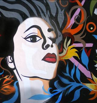 Graffity Face - Obrázkek zdarma pro iPad