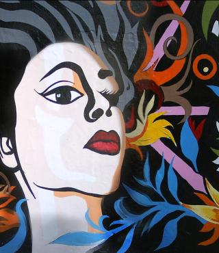 Graffity Face - Obrázkek zdarma pro 320x480