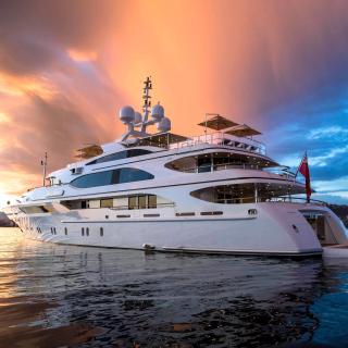 Superyacht In Miami - Obrázkek zdarma pro 128x128