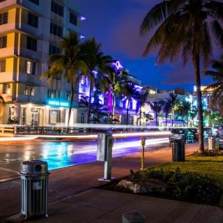Florida, Miami Evening - Obrázkek zdarma pro 128x128