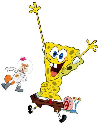 Spongebob and Sandy Cheeks - Obrázkek zdarma pro 320x480