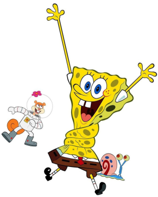 Spongebob and Sandy Cheeks - Obrázkek zdarma pro iPhone 6 Plus