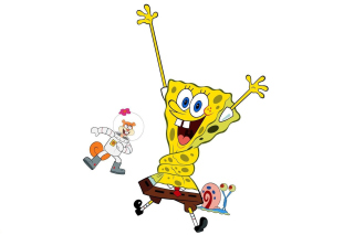Spongebob and Sandy Cheeks - Obrázkek zdarma pro Nokia Asha 200