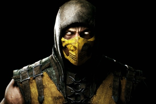 Scorpion In Mortal Kombat X Background for Android, iPhone and iPad