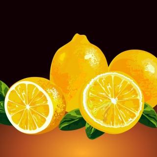 Fresh Lemon Painting - Obrázkek zdarma pro iPad Air