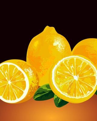 Fresh Lemon Painting - Obrázkek zdarma pro iPhone 4S