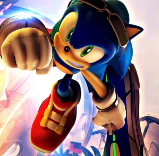 Sonic In Galaxy - Obrázkek zdarma pro iPad