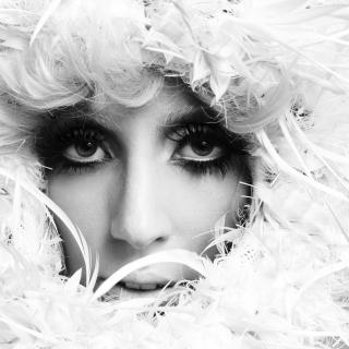 Lady Gaga White Feathers - Obrázkek zdarma pro iPad 2