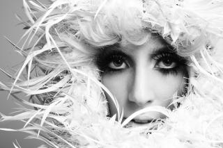 Lady Gaga White Feathers - Obrázkek zdarma pro Fullscreen Desktop 800x600