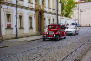 Prague Retro Car Wallpaper for Android, iPhone and iPad