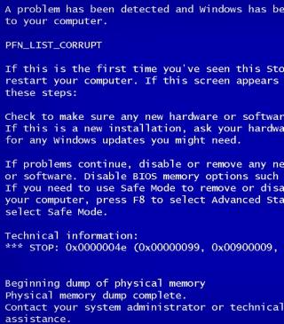 Blue Screen of Death - Fondos de pantalla gratis para Nokia 5230