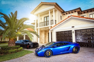Mansion, Luxury Cars Picture for Android, iPhone and iPad