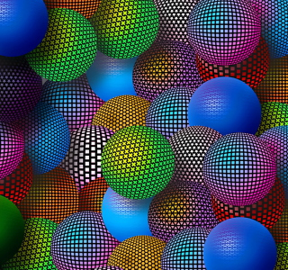 3D Neon Balls - Obrázkek zdarma pro iPad Air