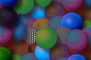 3D Neon Balls Wallpaper for Android, iPhone and iPad