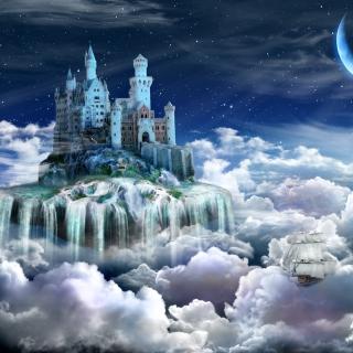 Castle on Clouds - Obrázkek zdarma pro 2048x2048