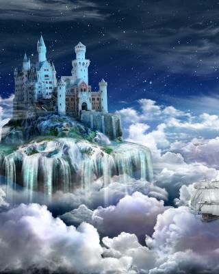 Castle on Clouds - Obrázkek zdarma pro iPhone 5