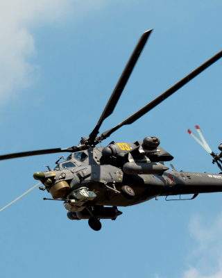 Mil Mi-28 Havoc Helicopter - Obrázkek zdarma pro Nokia Asha 502