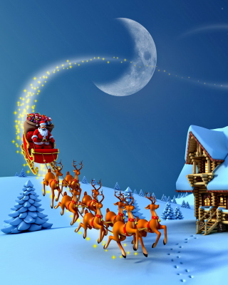 Christmas Night - Obrázkek zdarma pro Nokia Asha 300