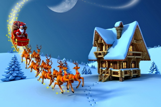 Christmas Night - Obrázkek zdarma pro 720x320