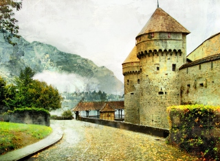 Chillon Castle in Montreux Picture for Android, iPhone and iPad