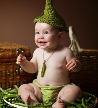 Happy Baby Green Peas - Obrázkek zdarma pro iPad Air