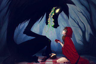 Red Riding Hood And Wolf Picture for Android, iPhone and iPad