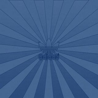 Adidas Blue - Obrázkek zdarma pro iPad 3