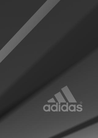 Adidas Grey Logo - Obrázkek zdarma pro 480x800