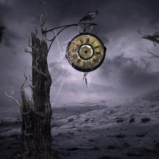 Black Raven Time - Obrázkek zdarma pro 128x128