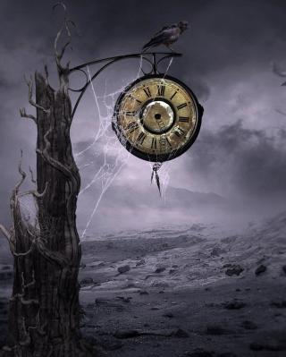 Black Raven Time - Obrázkek zdarma pro iPhone 5C