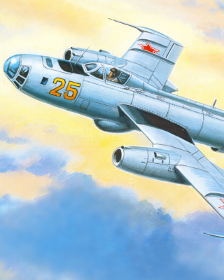 Yakovlev Yak 25 Soviet Union interceptor aircraft - Obrázkek zdarma pro Nokia 300 Asha