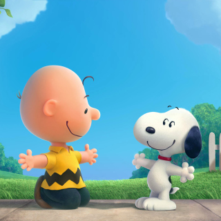 The Peanuts Movie with Snoopy and Charlie Brown - Obrázkek zdarma pro 320x320