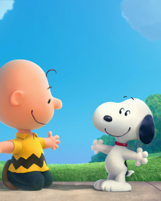 The Peanuts Movie with Snoopy and Charlie Brown - Obrázkek zdarma pro Nokia Lumia 820