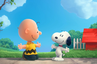 The Peanuts Movie with Snoopy and Charlie Brown - Obrázkek zdarma pro Samsung Galaxy S6