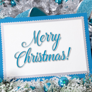 Merry Christmas Card - Obrázkek zdarma pro iPad