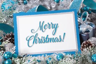 Merry Christmas Card - Obrázkek zdarma pro Nokia XL