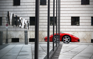 Red Ferrari 458 Italia Picture for Android, iPhone and iPad